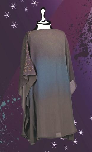 Kaftan mit Fashion-Shimmer Farbverlauf by Nandini Mitra - Marabu Kreativ