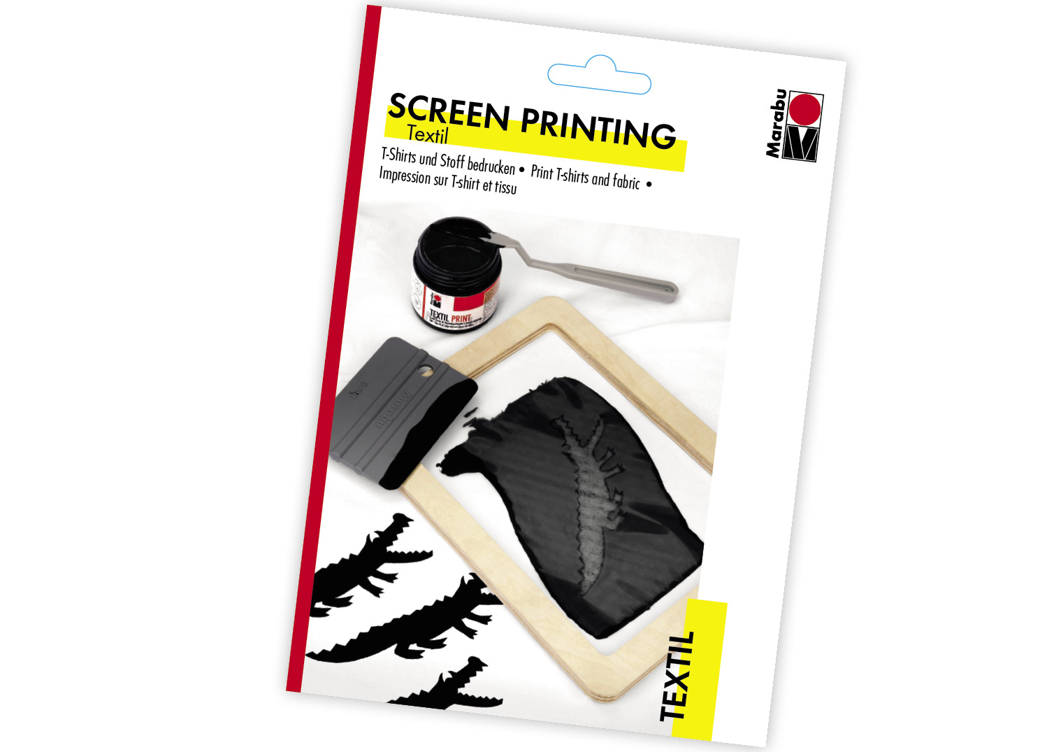 MARABU TEXTIL SCREEN PRINTING KIT FOR FABRICS PRINTING INK /& ACCESSORIES SET NEW